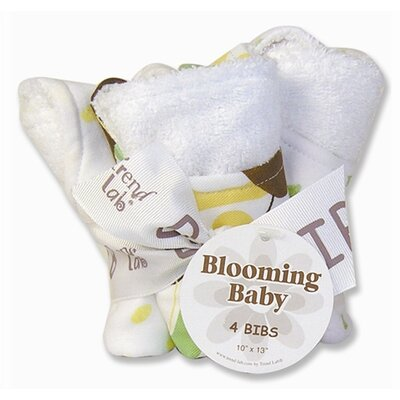 Trend Lab Giggles Blooming Bouquet 4 Pack Bib Set