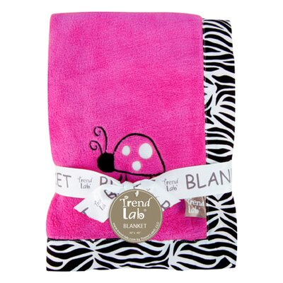 Trend Lab Zahara Zebra Framed Receiving Blanket