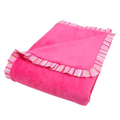 Trend Lab Savannah Ruffle Trimmed Receiving Blanket