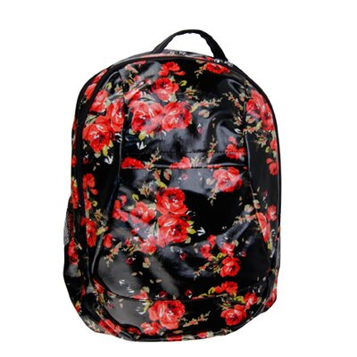 Voyager Garden Rose Backpack Diaper Bag