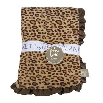 Berry Leopard Framed Receiving Blanket