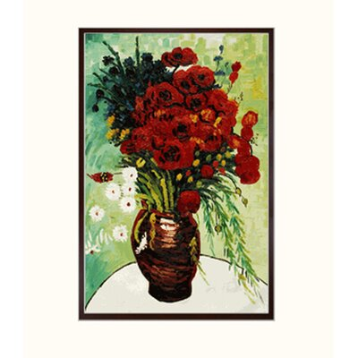 Tori Home Van Gogh Vase with Daisies and Poppies Canvas Art