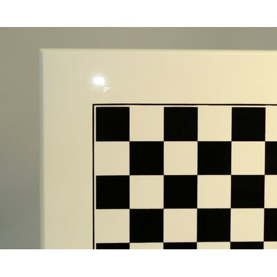 Ital Fama Wood Chess Board in White / Black