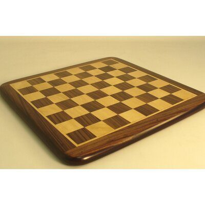"Pleasantime 15"" Rosewood / Maple Thick Veneer Chess Board"