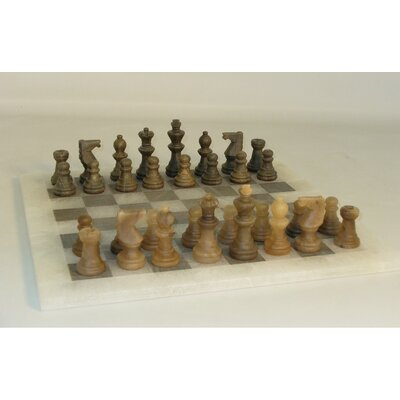 Alabaster Chess Set in Brown / Ash