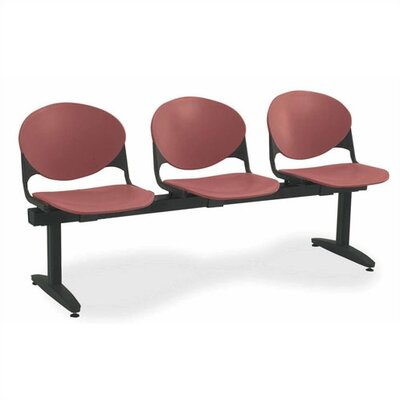 KFI Seating Three Chair Beam Seating with Back