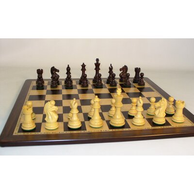 Rosewood Pro Ebony Birdseye Chess Set