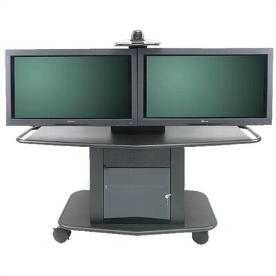 "Avteq Plana Series 32"" Tall Metal Plasma Cart - Holds one 61"" or two 42-50"" Screens"