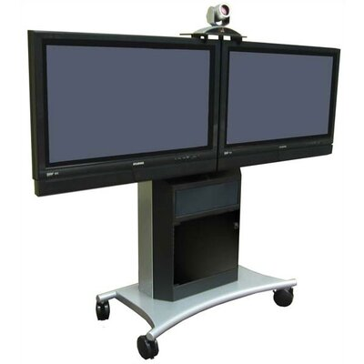 "Avteq Rolling Dual LCD/Plasma Stand for 40"" to 50"" Screens"