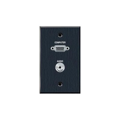 Avteq Single Gang Wall Plate with VGA and 3.5mm Audio
