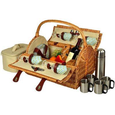 Yorkshire Picnic Basket with Coffee Flask for Four