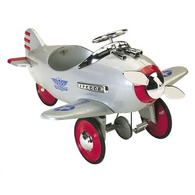 Airflow Collectibles Pursuit Pedal Plane in Silver