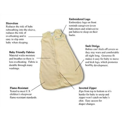 HALO Innovations, Inc. Fleece SleepSack™ Wearable Blanket in Cream