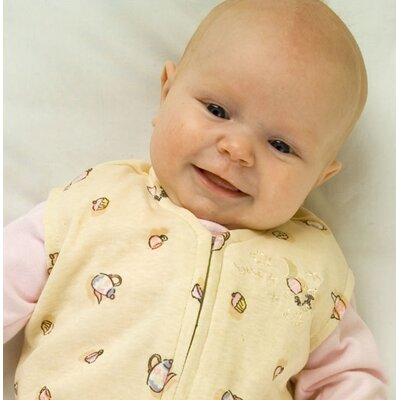 HALO Innovations, Inc. 100% Organic Cotton SleepSack™ Wearable Blanket in Yellow with Tea Cup Print