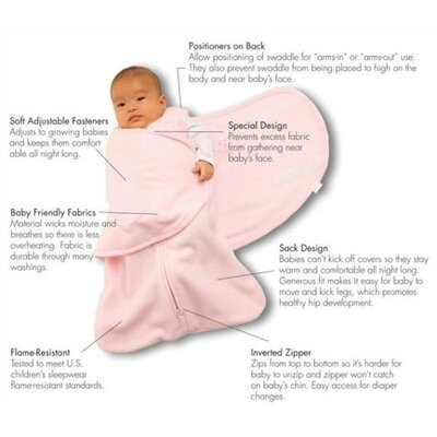 HALO Innovations, Inc. Fleece SleepSack™ Swaddle Wearable Blanket in Blue
