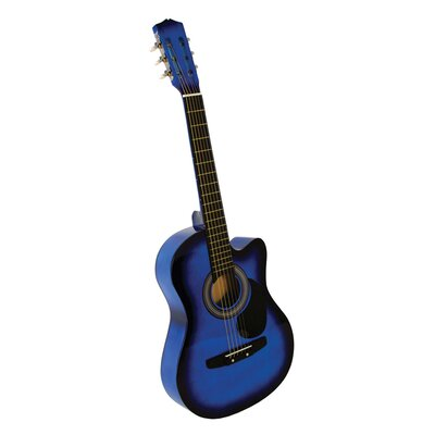 Stedman Pro Acoustic Cutaway Guitar with Gig Bag and Accessories in Blue