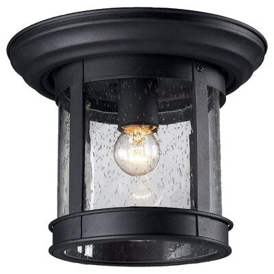 Z-Lite Outdoor 1 Light Flush Mount