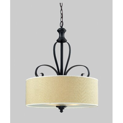 Z-Lite Charleston 3 Light Drum Foyer Pendant
