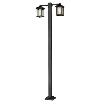 "Z-Lite Mesa 2 Light 112.75"" Aluminum Outdoor Post Lantern Set"