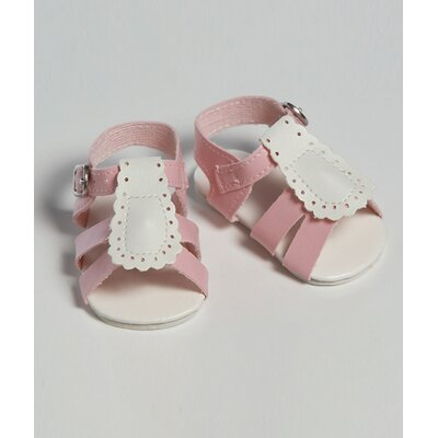 "Adora Dolls 20"" Doll Shoe Sandal Two Tome in Pink / White"