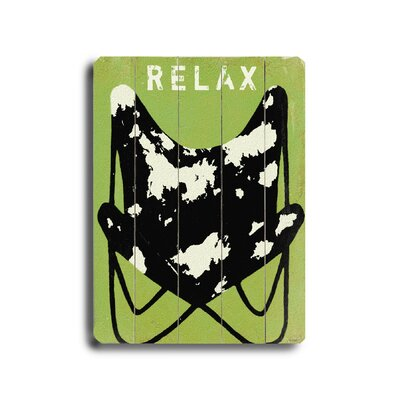 "Artehouse LLC Relax Planked Wood Sign - 20"" x 14"""