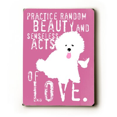 "Artehouse LLC Practice Random Beauty Wood Sign - 12"" x 9"""