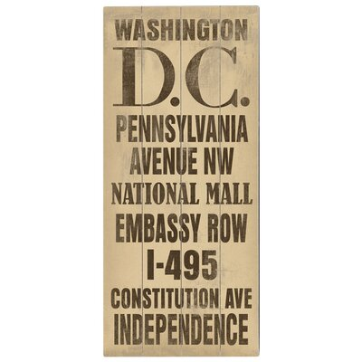Artehouse LLC Washington DC Transit Wood Sign