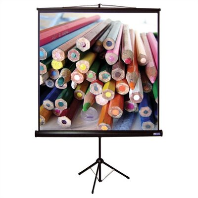 "Vutec Matte White Tripod H Portable Screen - 96"" x 96"" AV Format"