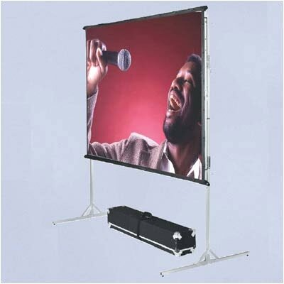 Vutec BriteWhite Porta-Fold Front Projection Complete Screen Kit - 6' x 18' AV Format