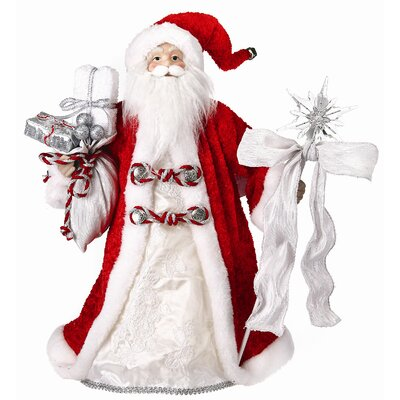 Regency International Snowflocked Santa Figurine