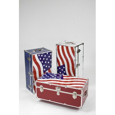 Stanley Case Works Medium Patriotic Steel Trunk