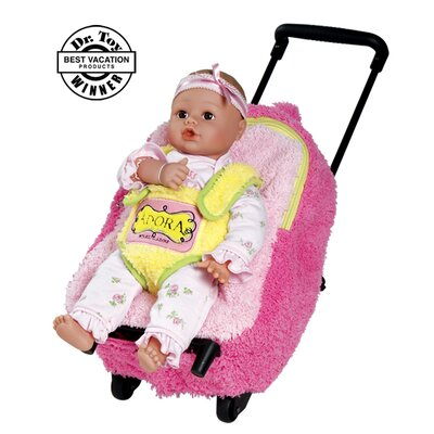 "Charisma Adora Playtime Rolling on Wheels  Backpack for 13"" PlayTime Baby Dolls"