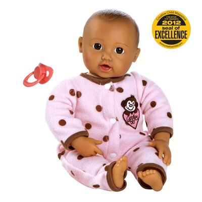 "Charisma Adora ""Giggle Time Baby"" Doll with Med Skin Tone/Brown Hair/Brown Eyes"