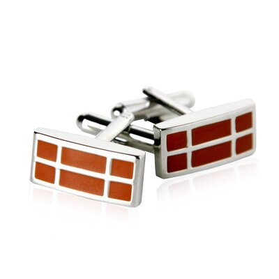 Cuff-Daddy Cufflinks in Dark Orange 