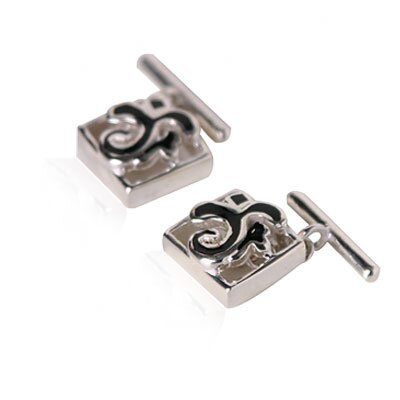 Cuff-Daddy Fleur De Lis Cufflinks in Sterling silver