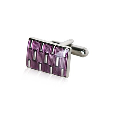 Cuff-Daddy Galvanized Cufflinks in Purple