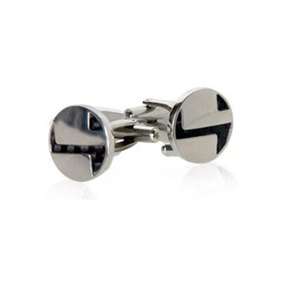 Cuff-Daddy Abstract Carbon Fiber Cufflinks