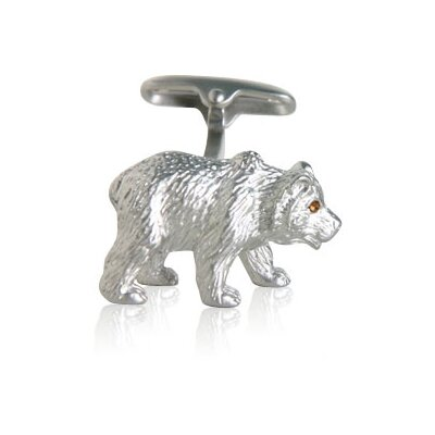Safari Cufflinks Bear Cufflinks with Swarovski Eyes