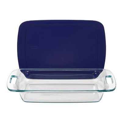 Pyrex Easy Grab 3 Qt. Oblong Baking Dish with Plastic Cover