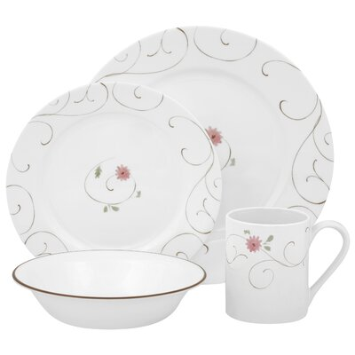 Corelle Impressions Enchanted 16 Piece Dinnerware Set