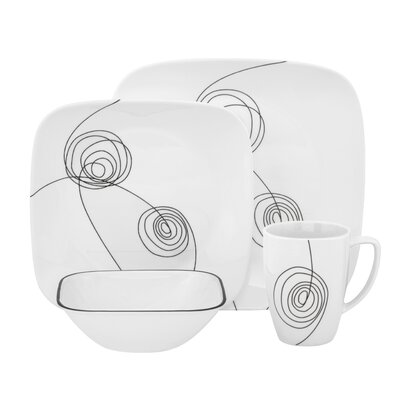 Corelle Scribble Lines 16 Piece Dinnerware Set