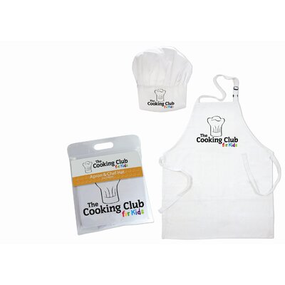 Be.Retail Apron and Hat in White (Ages 3-7)