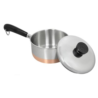 Revere Cookware 1400 Line Stainless Steel Saucepan with Lid