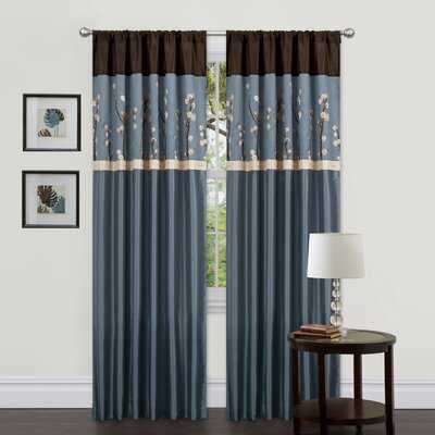 Special Edition by Lush Decor Cocoa Blossom Rod Pocket Curtain Panel Pair