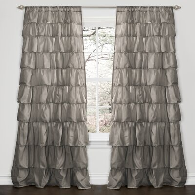 Special Edition by Lush Decor Ruffle Rod Pocket Curtain Single Panel
