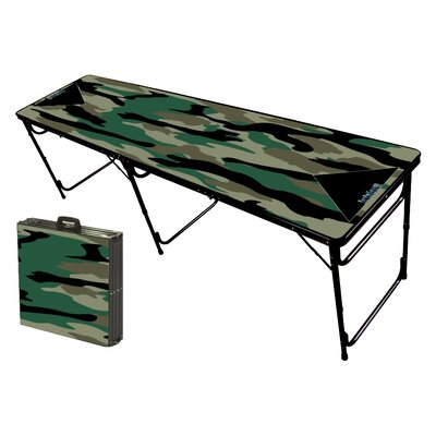 Party Pong Tables Camo Green Folding and Portable Beer Pong Table