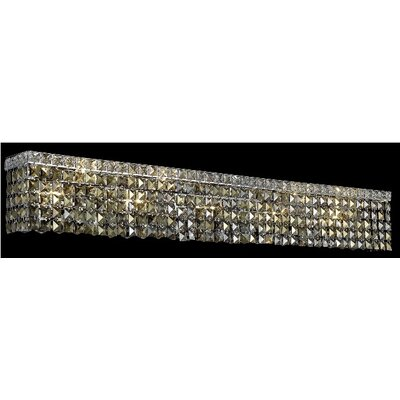 Elegant Lighting Maxim 10 Light Wall Sconce in Chrome