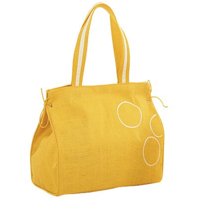 Jute Farm Natural Amber Jute Carry Tote Bag