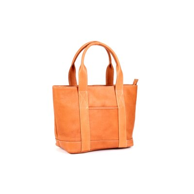 Le Donne Leather Double Strap Small Pocket Tote