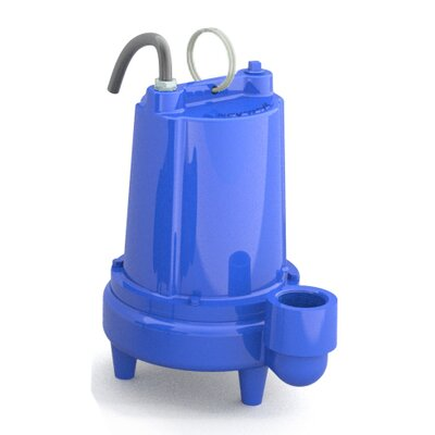 Power-Flo 1/2 HP Manual Discharge Single Phase Submersible Effluent Pump